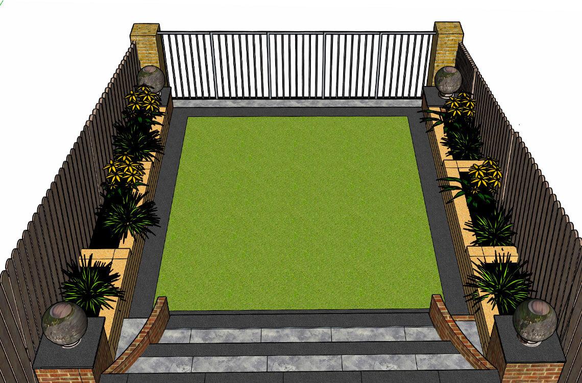 3D Garden Render 1